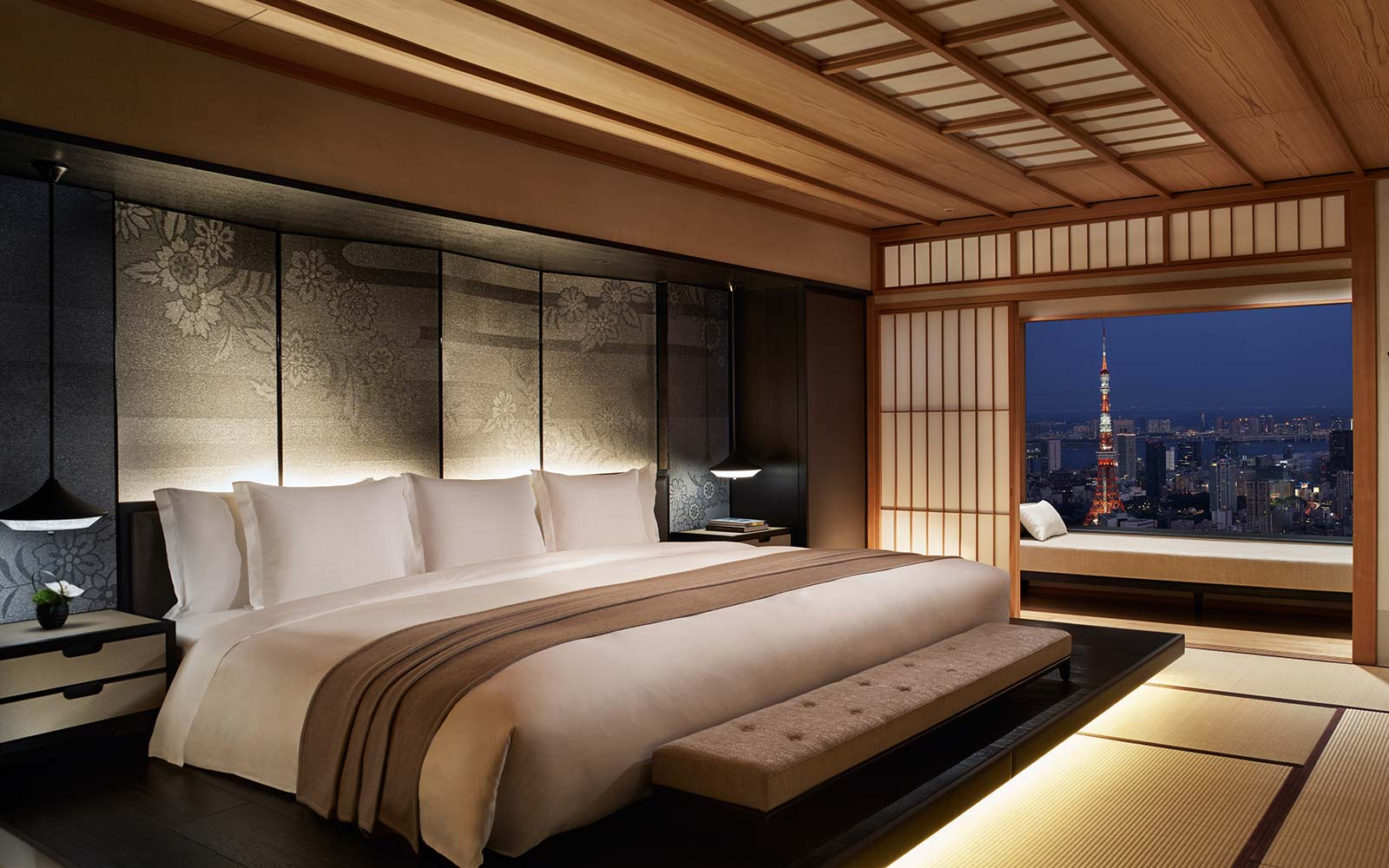 The Ritz Carlton Tokyo Japan Modern Suite Bedroom
