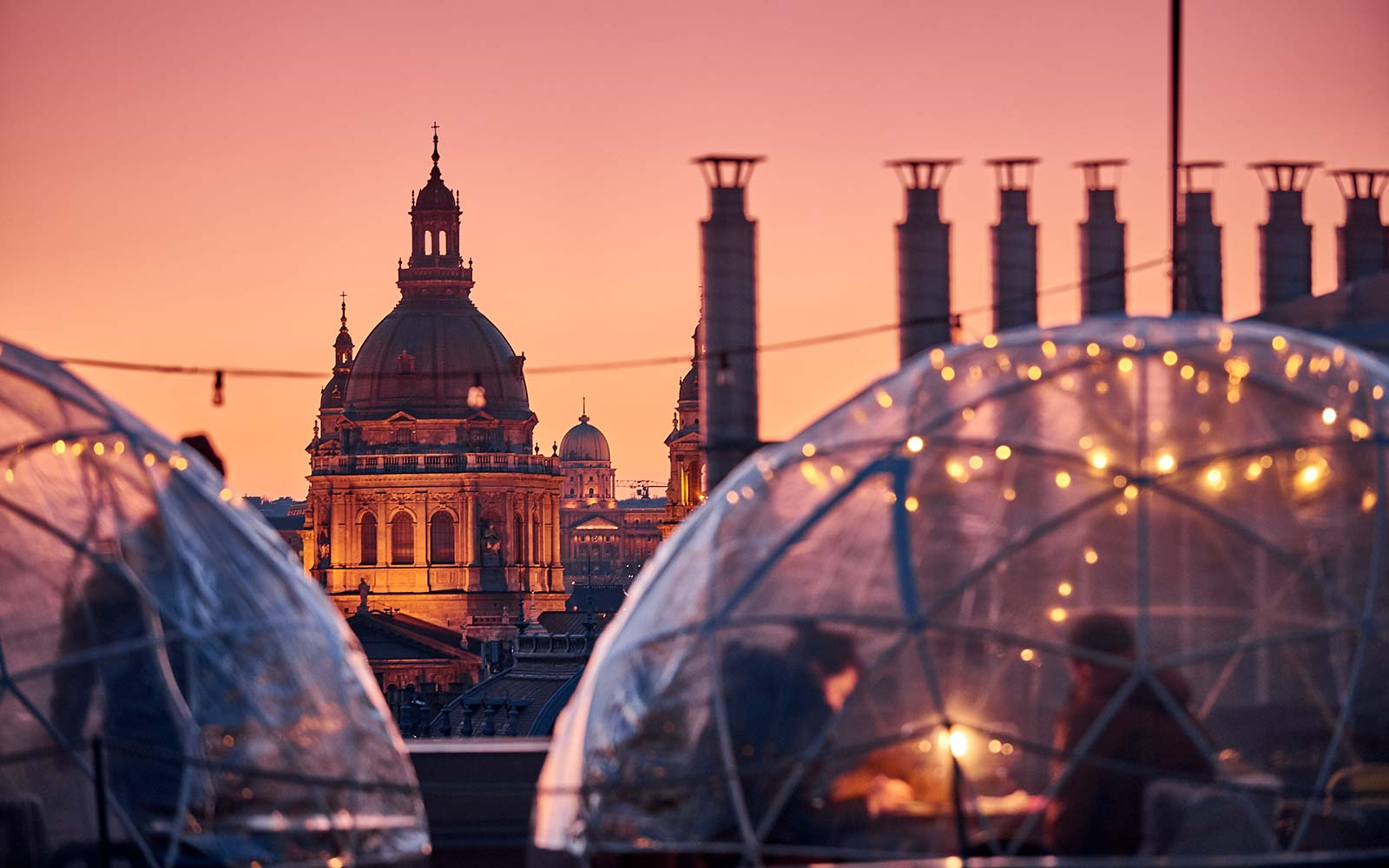 Enjoy a Drink in a Rooftop Igloo at This Bar in Budapest