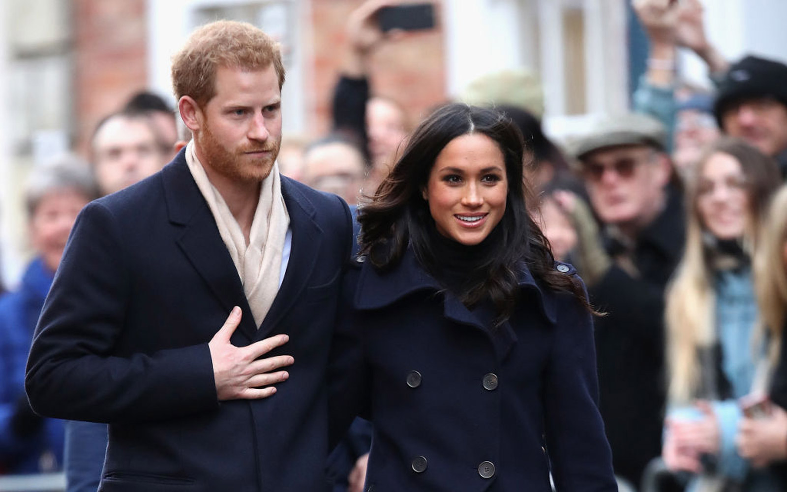 Meghan Markle and Prince Harry Meet With Fans for First Time As Engaged Couple