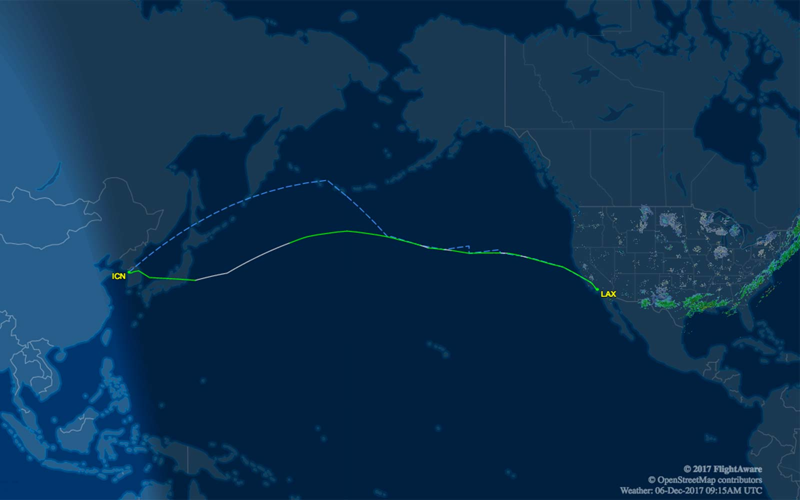 Singapore Airlines Flight Route Map North Korea Seoul Los Angeles