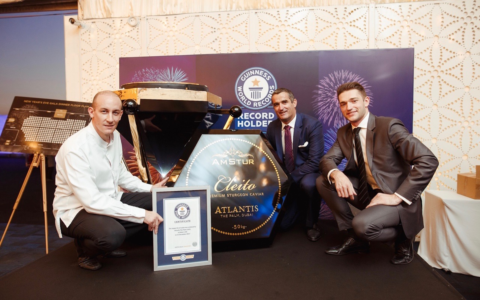World's largest caviar tin Atlantis The Palm Dubai