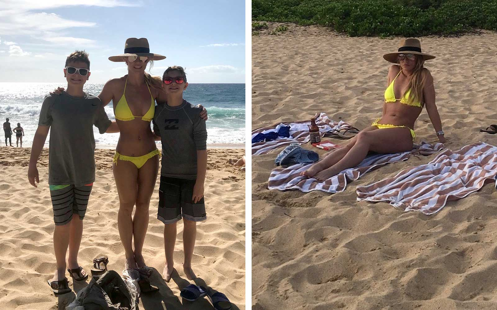 Britney Spears and her sons on vacation in Hawaii