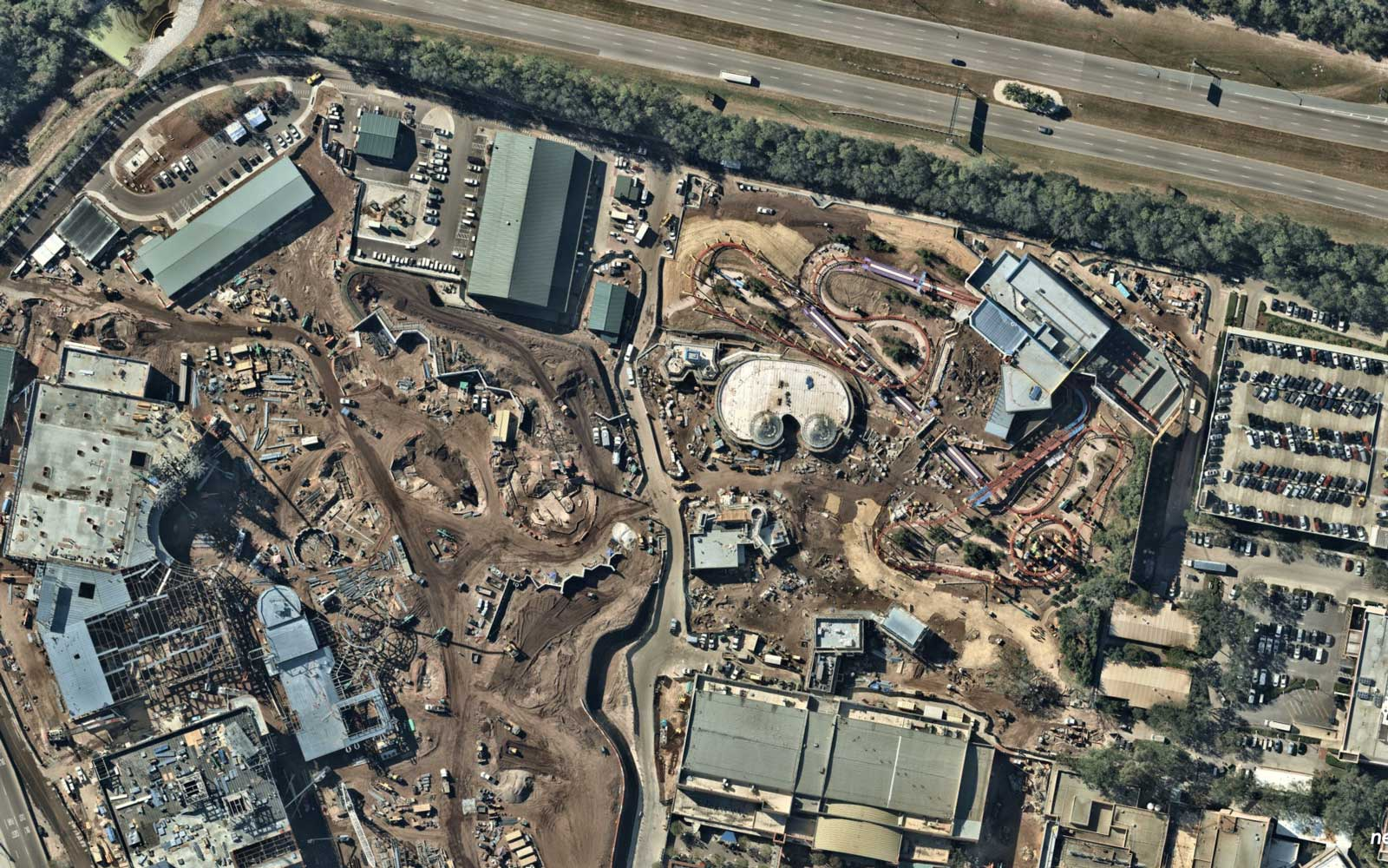 Aerial photos of Disney Hollywood Studios by Nearmap