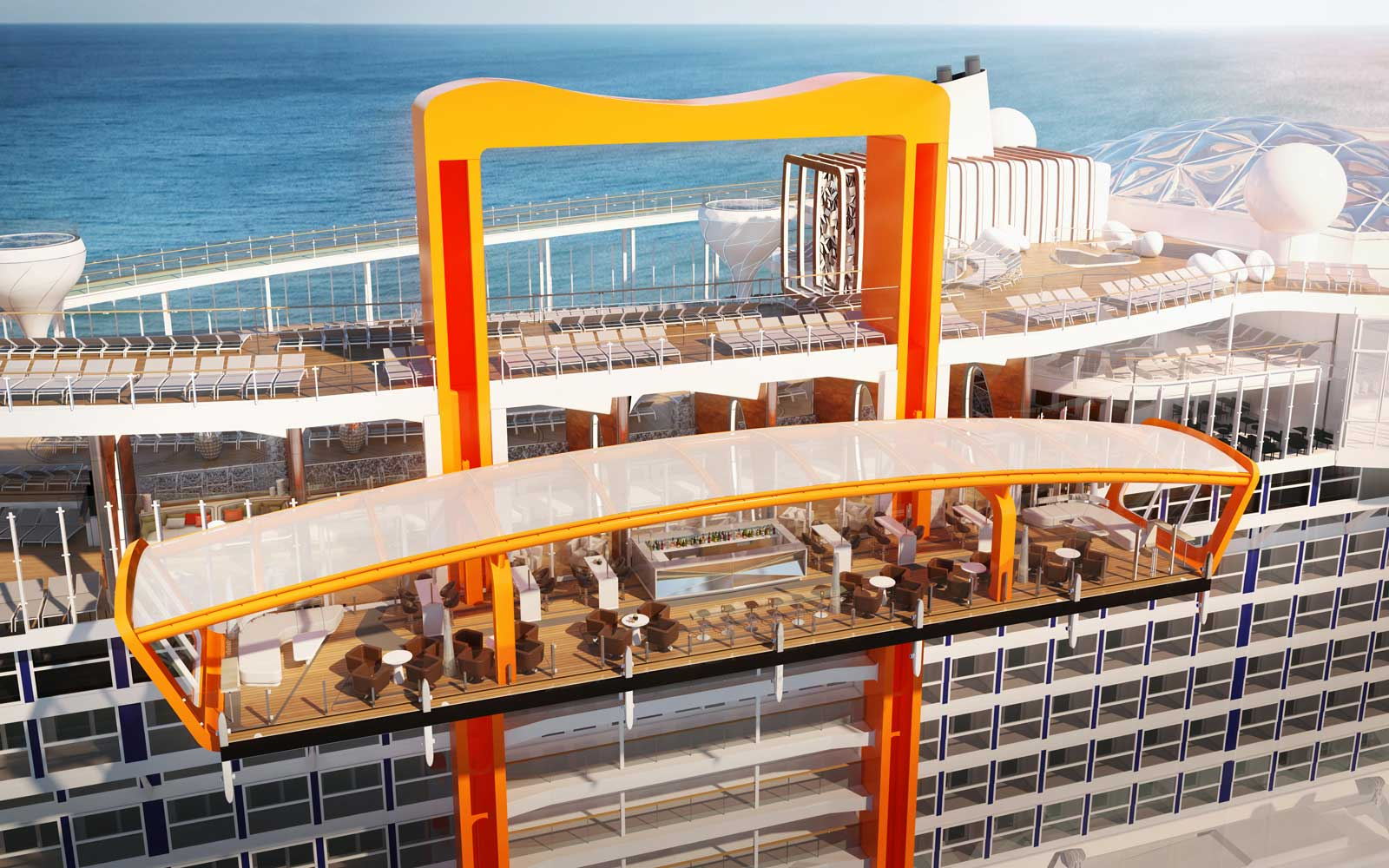 """Rendering of the """"Magic Carpet"""" experience on the Celebrity Edge"""