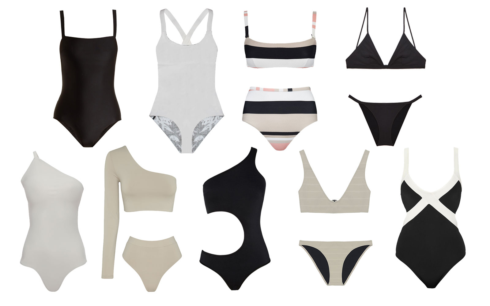 Black and white swimwear for 2018
