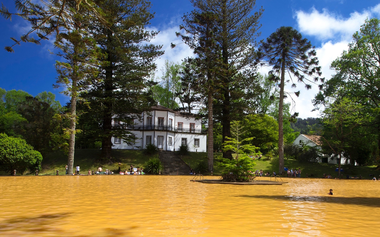 Thermal Pool at Terra Nostra Park in Furnas, Sao Miguel, Azores