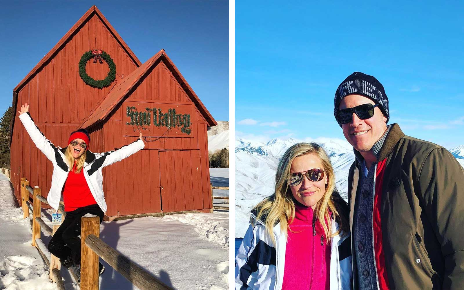Reese Witherspoon's Adorable Family Getaway Will Inspire You to Take a Snowy Vacation