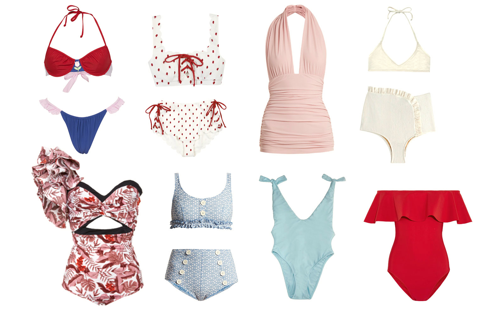 Romantic ruffled swimsuits for 2018