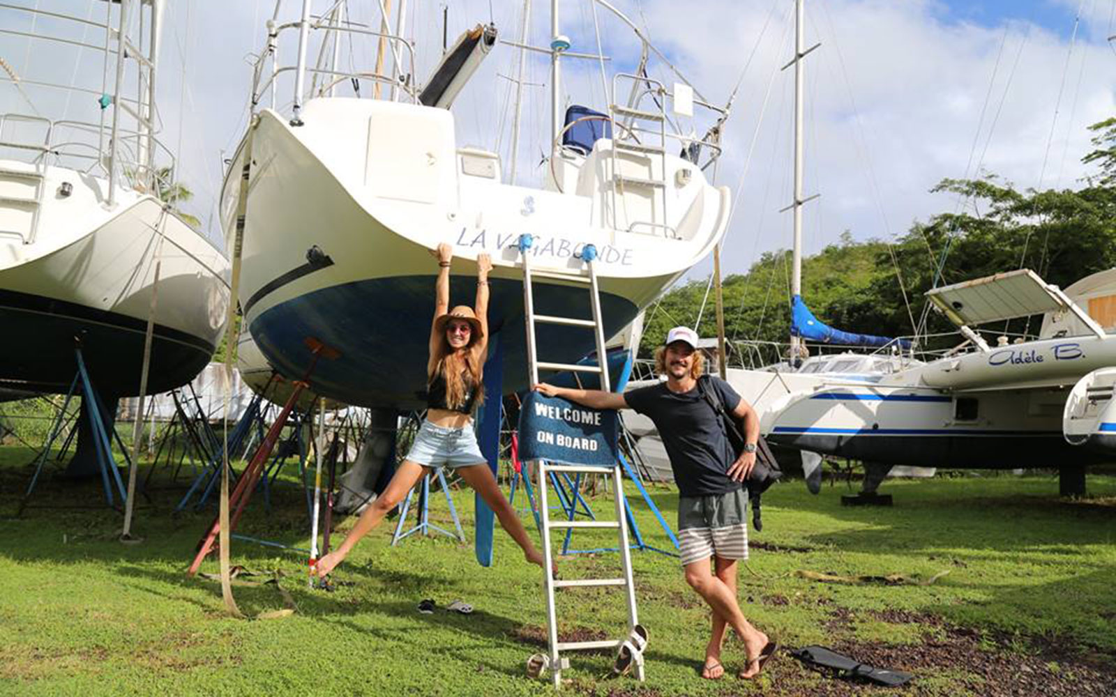 Riley Whitelum Elayna Carausu Couple Travel Sail the World Boat Adventure
