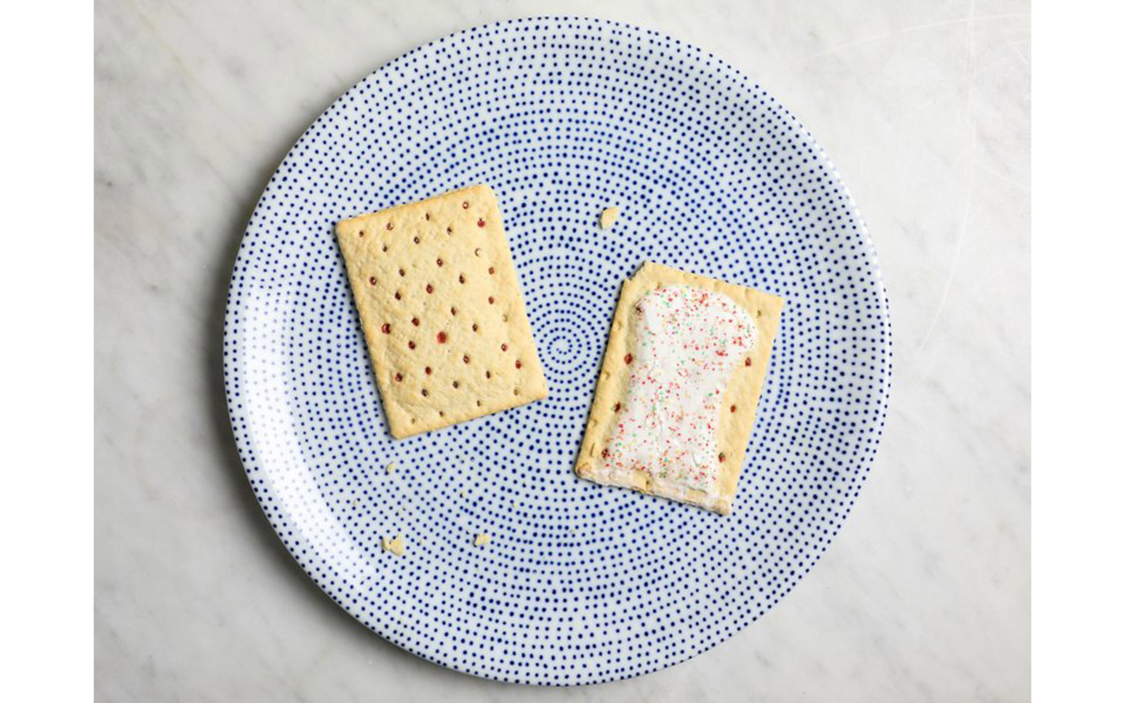 Unfrosted Strawberry and Strawberry Poptarts