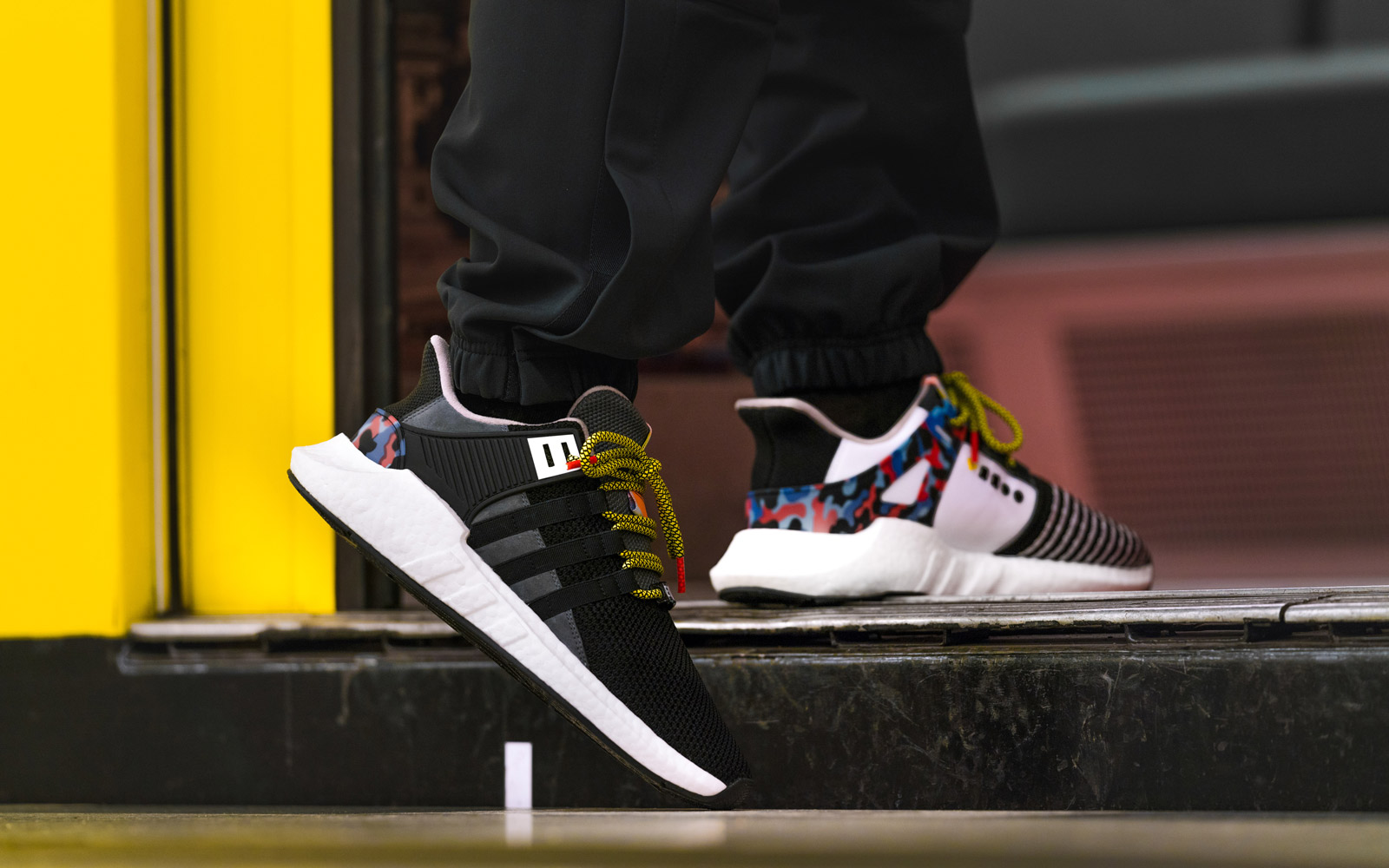 Wearing EQT Support 93/Berlin with BVG pattern
