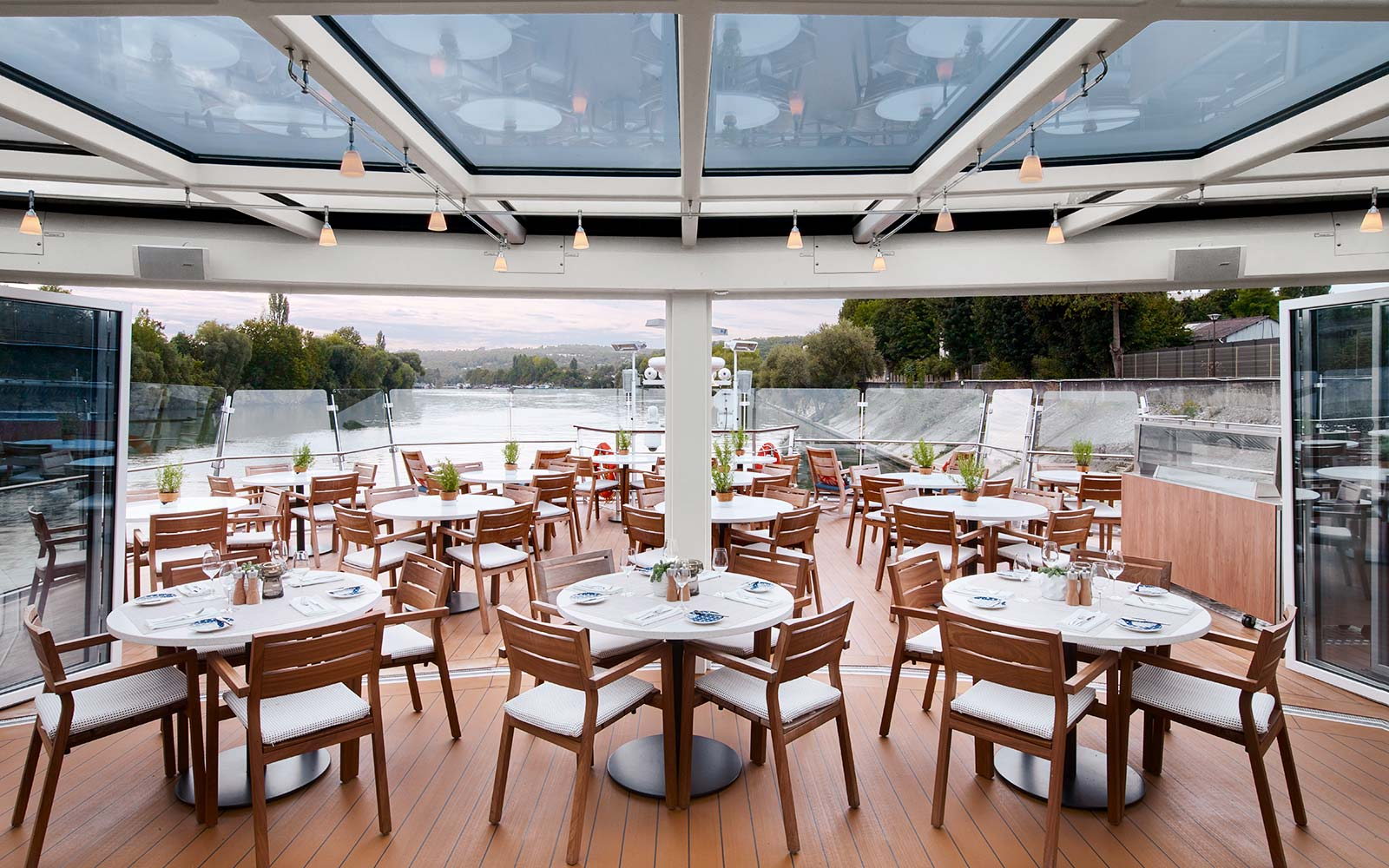 Viking River Cruise Longship Hild Aquavit Terrace Dining