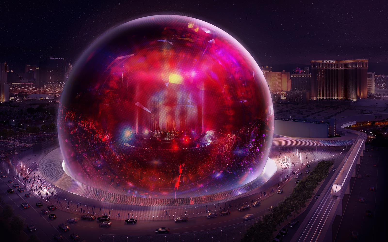 Madison Square Garden Entertainment Dome Sphere
