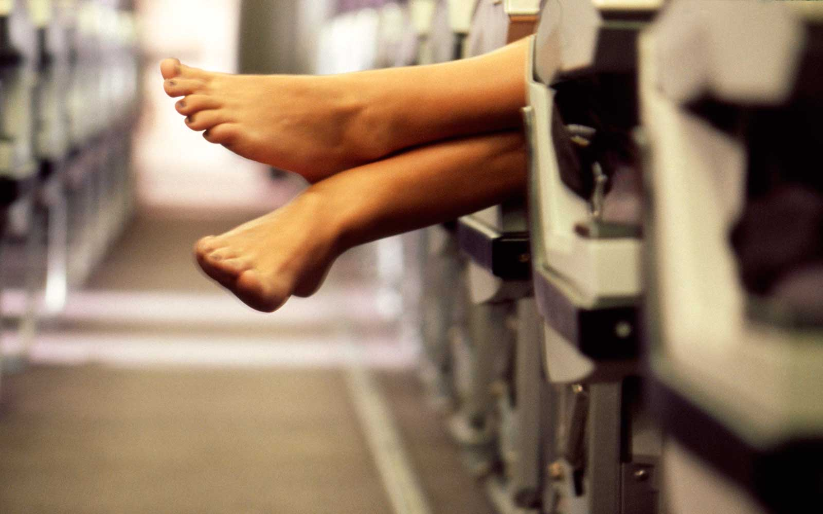 Why You Should Never Take Your Shoes Off on a Flight
