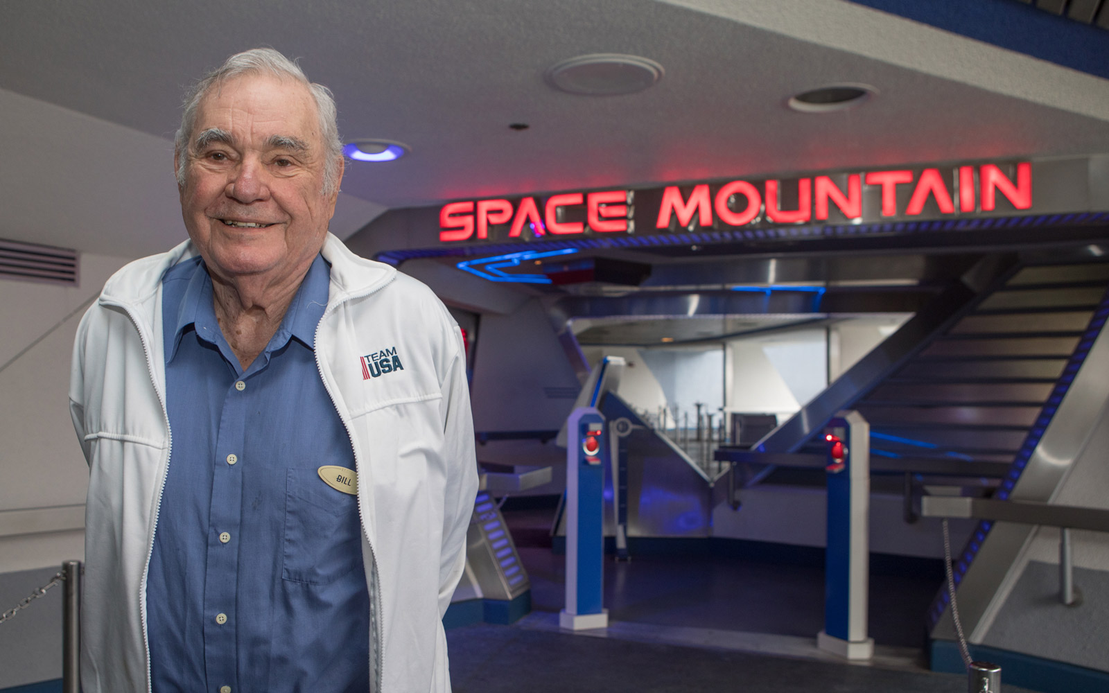 Bill Watkins takes his last ride on Space Mountain