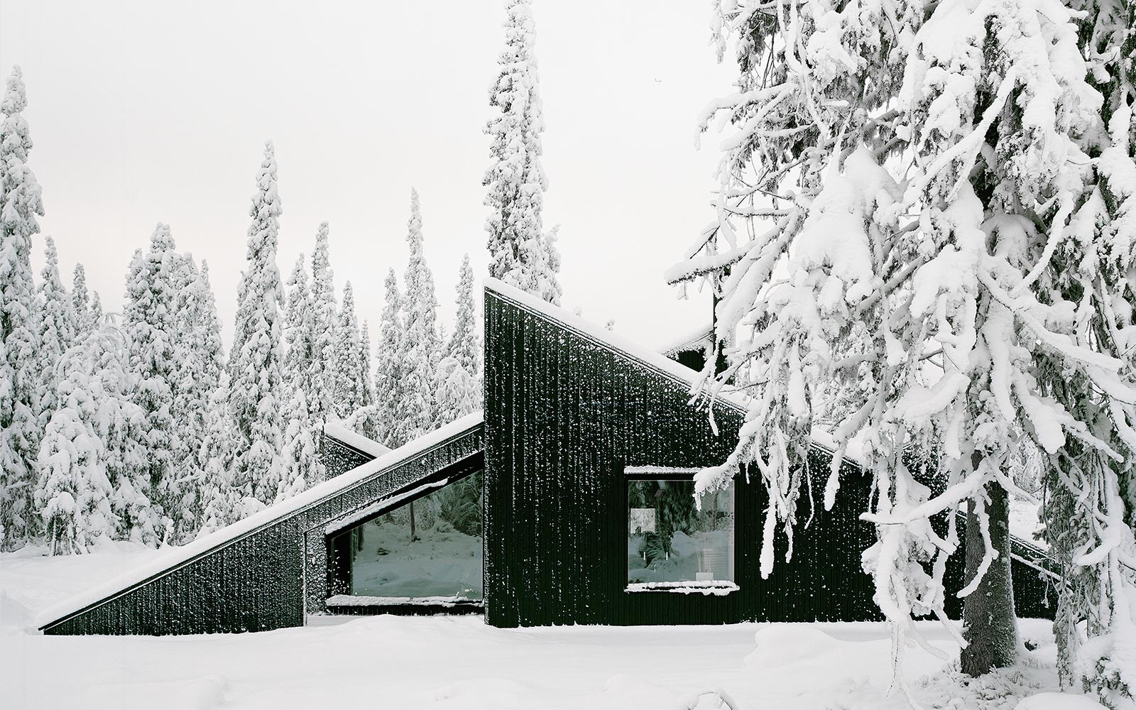 This Hidden Cabin in Norway Looks Like It Was Buried in an Avalanche