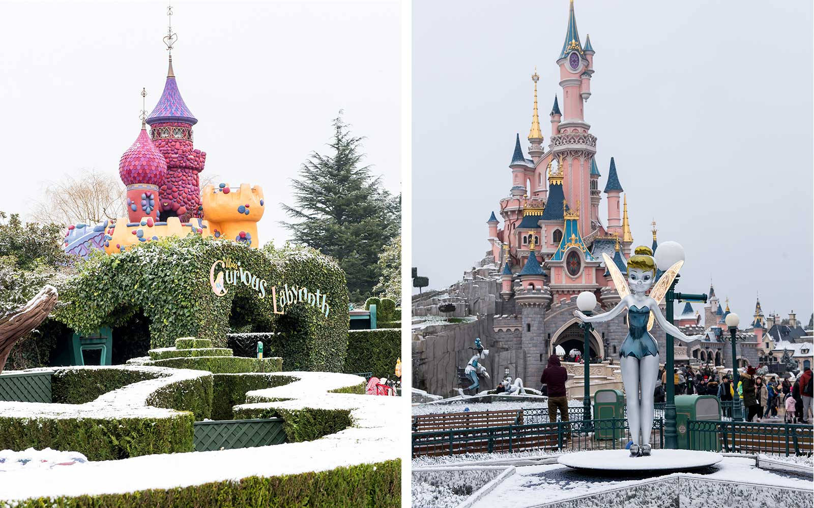 Disneyland Paris Is Covered in Snow and It Looks More Magical Than Ever