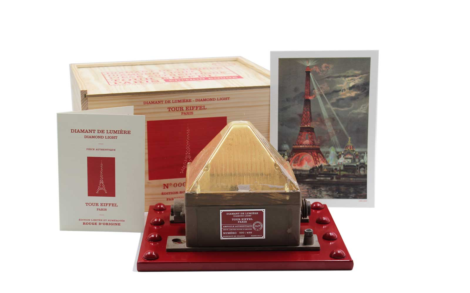 Lightbulb from Eiffel Tower in Paris for sale