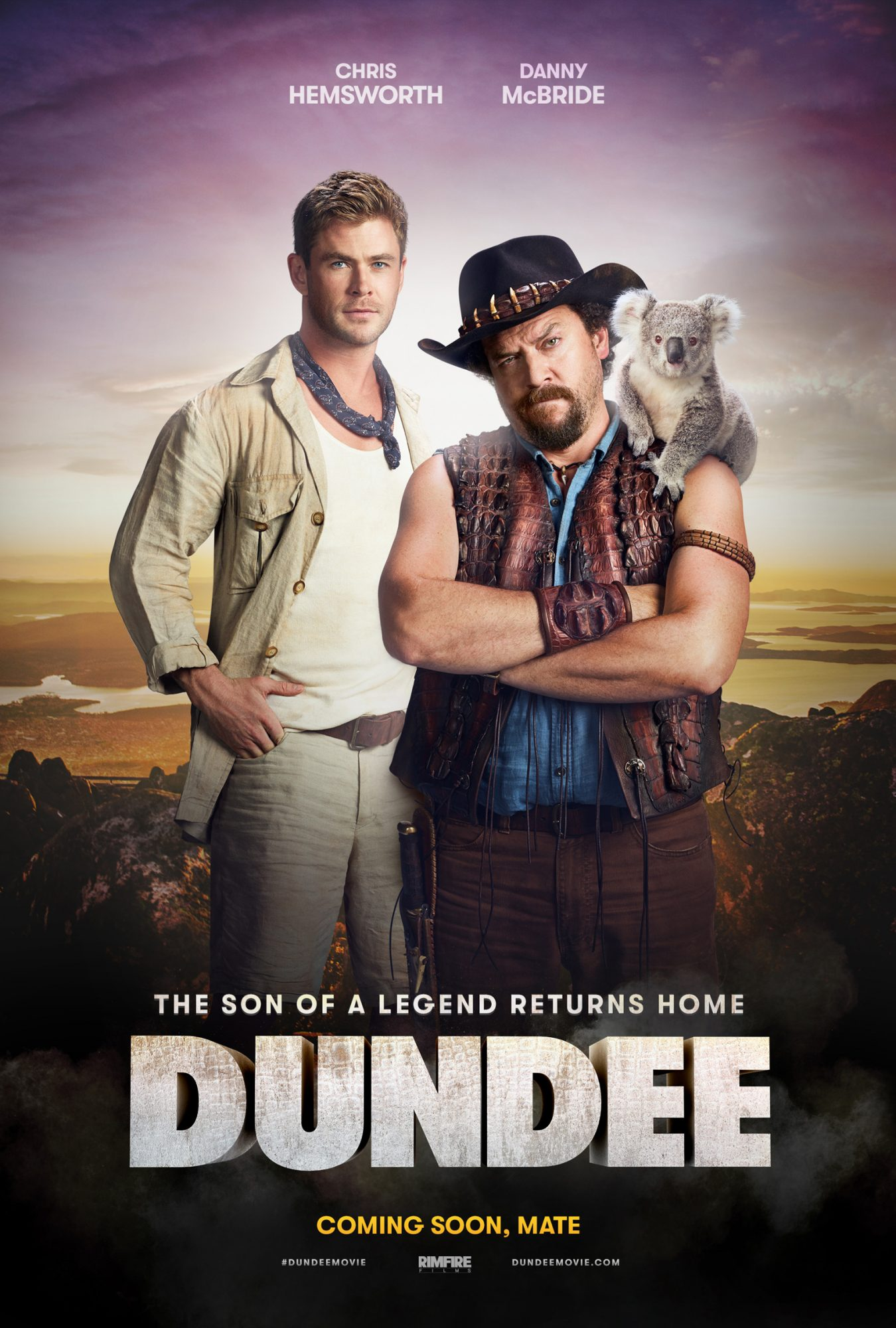 The poster for Tourism Australia's Super Bowl ad with a Crocodile Dundee spoof.
