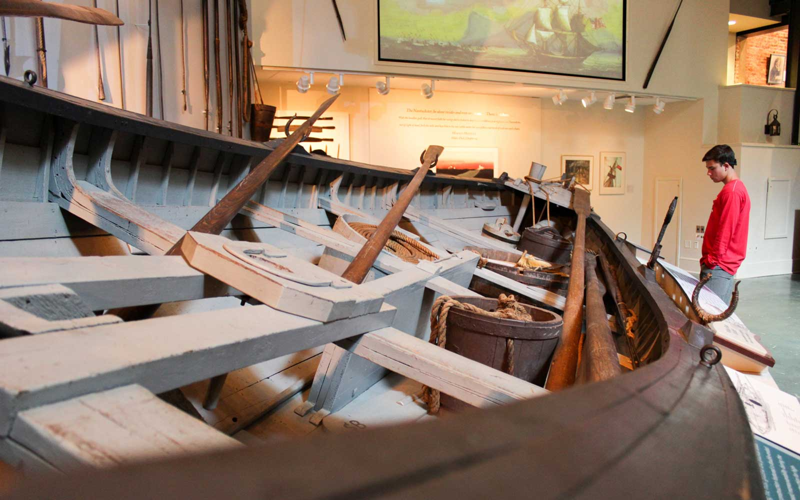 Inside the Nantucket Whaling Museum
