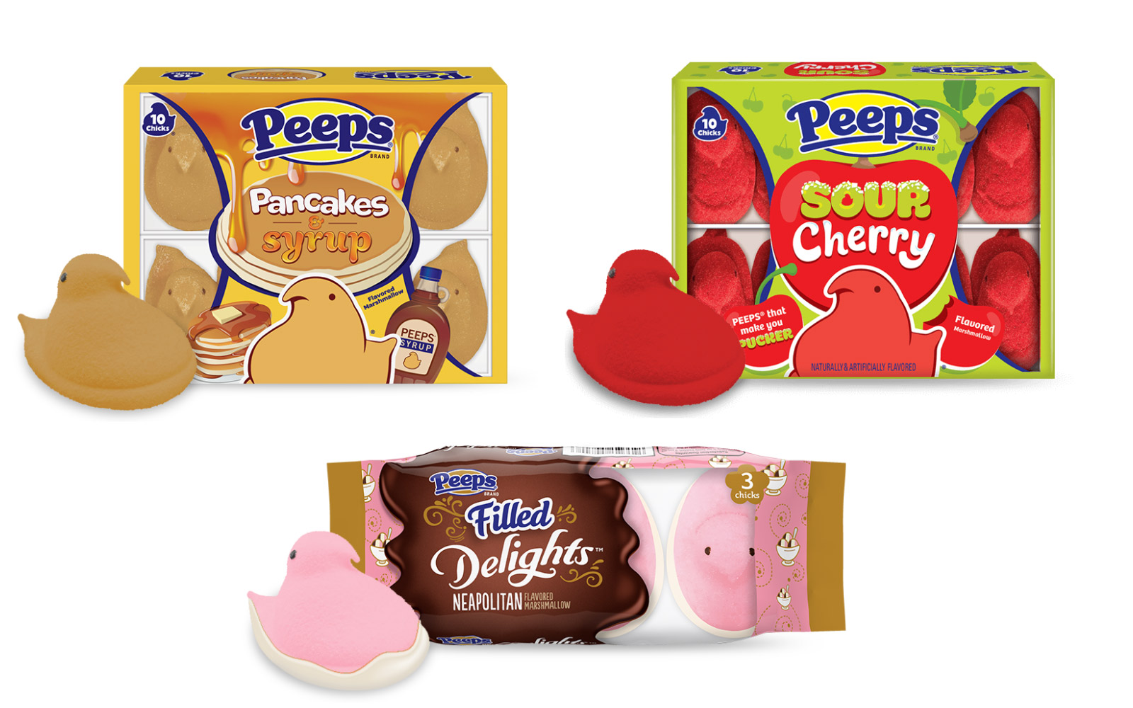 Peeps Unique New Flavors Include Pancakes & Syrup and Chocolate Dipped Lemon Sherbet