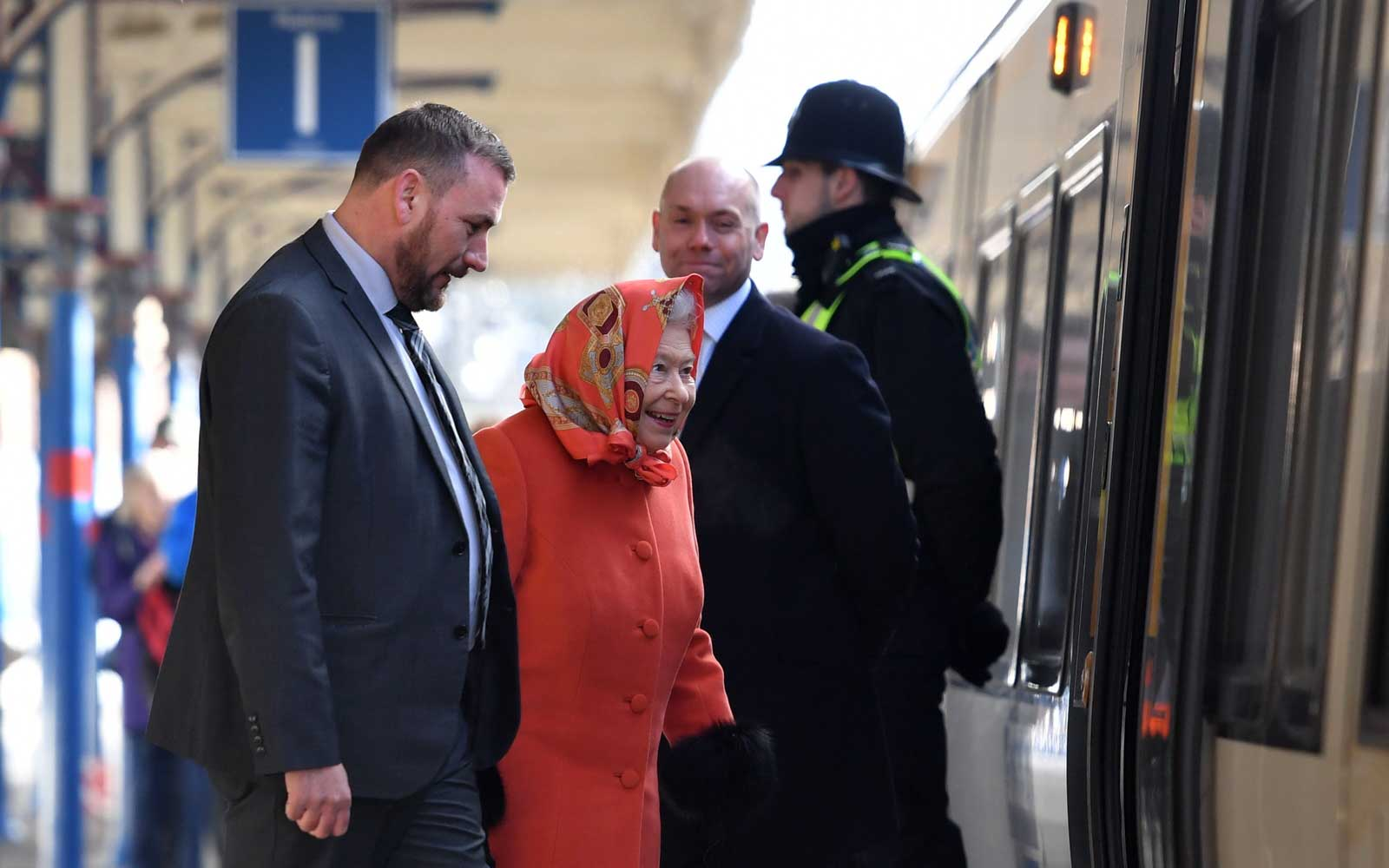 The Queen of England Just Took Public Transportation Like the Rest of Us