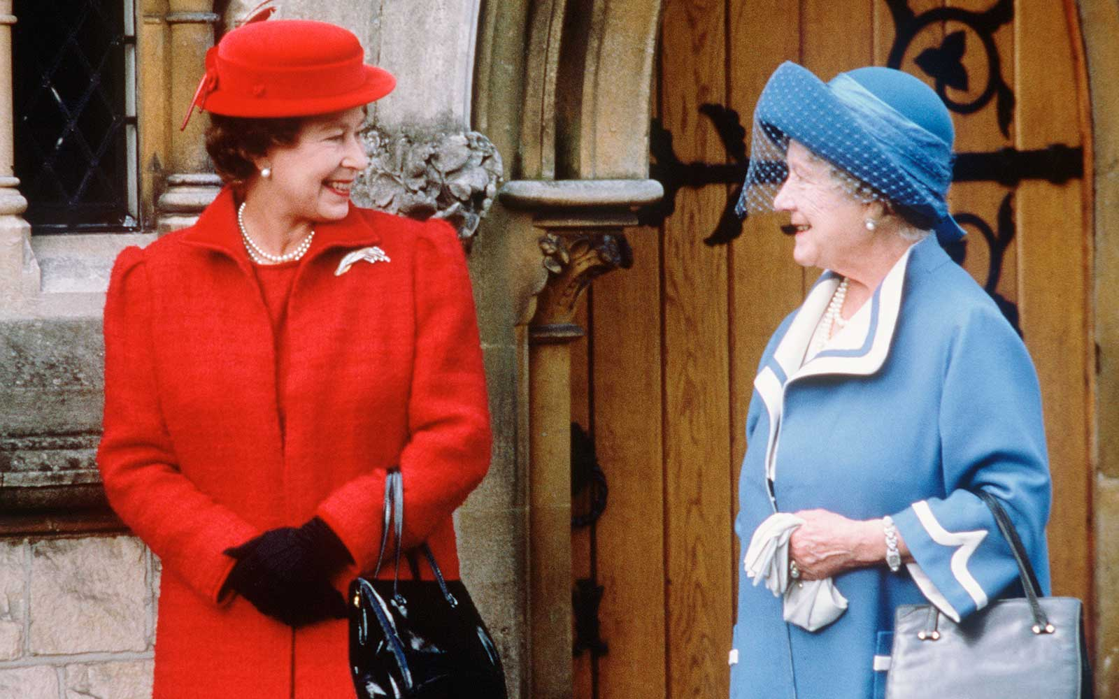 Queen Elizabeth II and the Queen Mother at All Saints Church