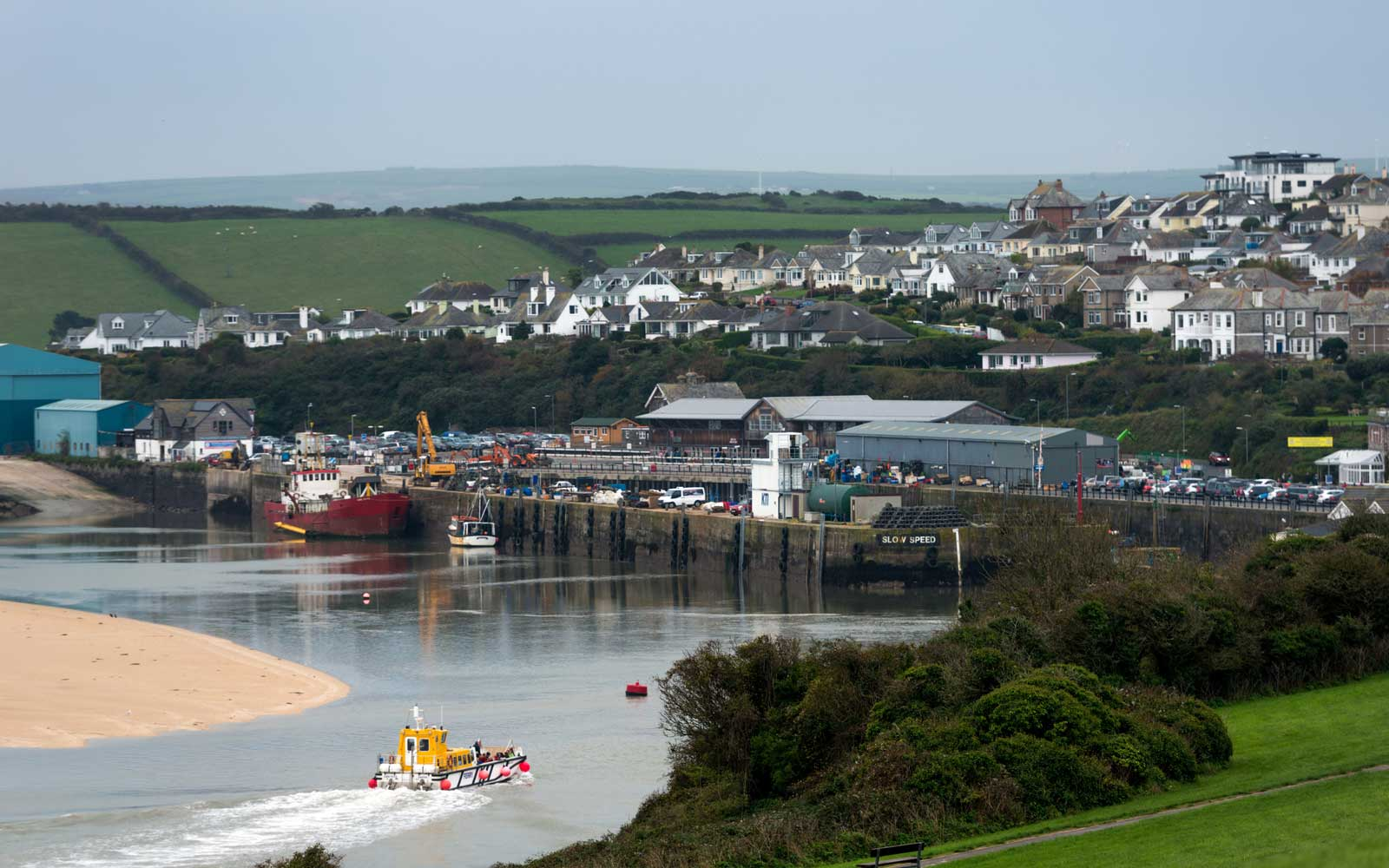The Padstow to Rock Ferry is in North Cornwall, UK, England, and ferries passengers across the Camel Estuary between the villages of Padstow and Rock.