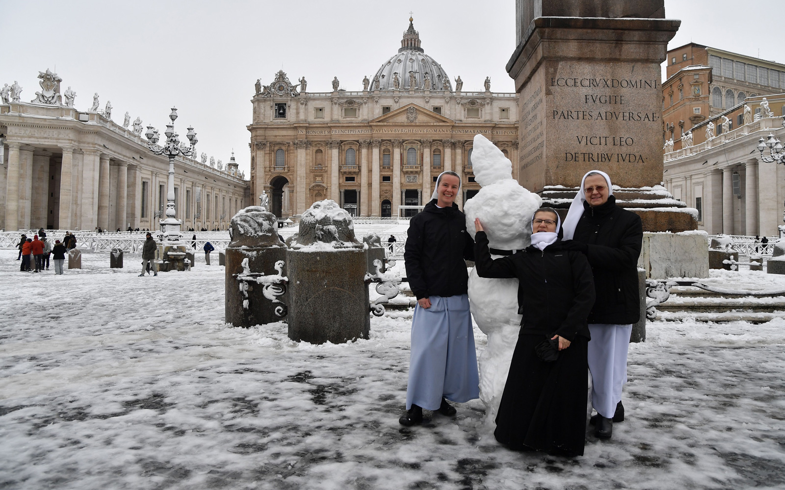 Priests Threw Snowballs and Nuns Built Snowmen During Rome's First Snow in Years