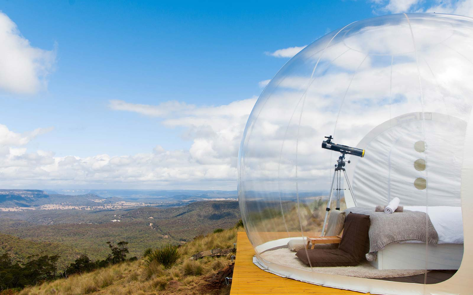 Bubbletents Australia Lodging Telescope View