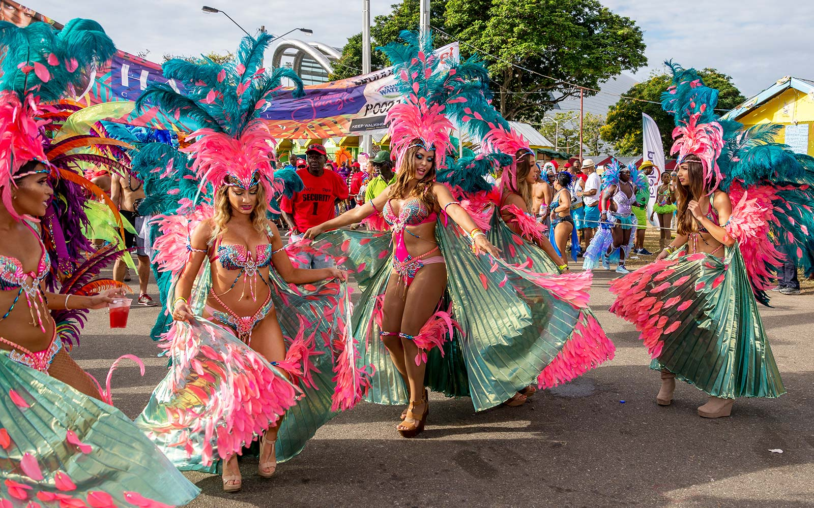 Trinidad Port of Spain Carnival Masquerade Celebration