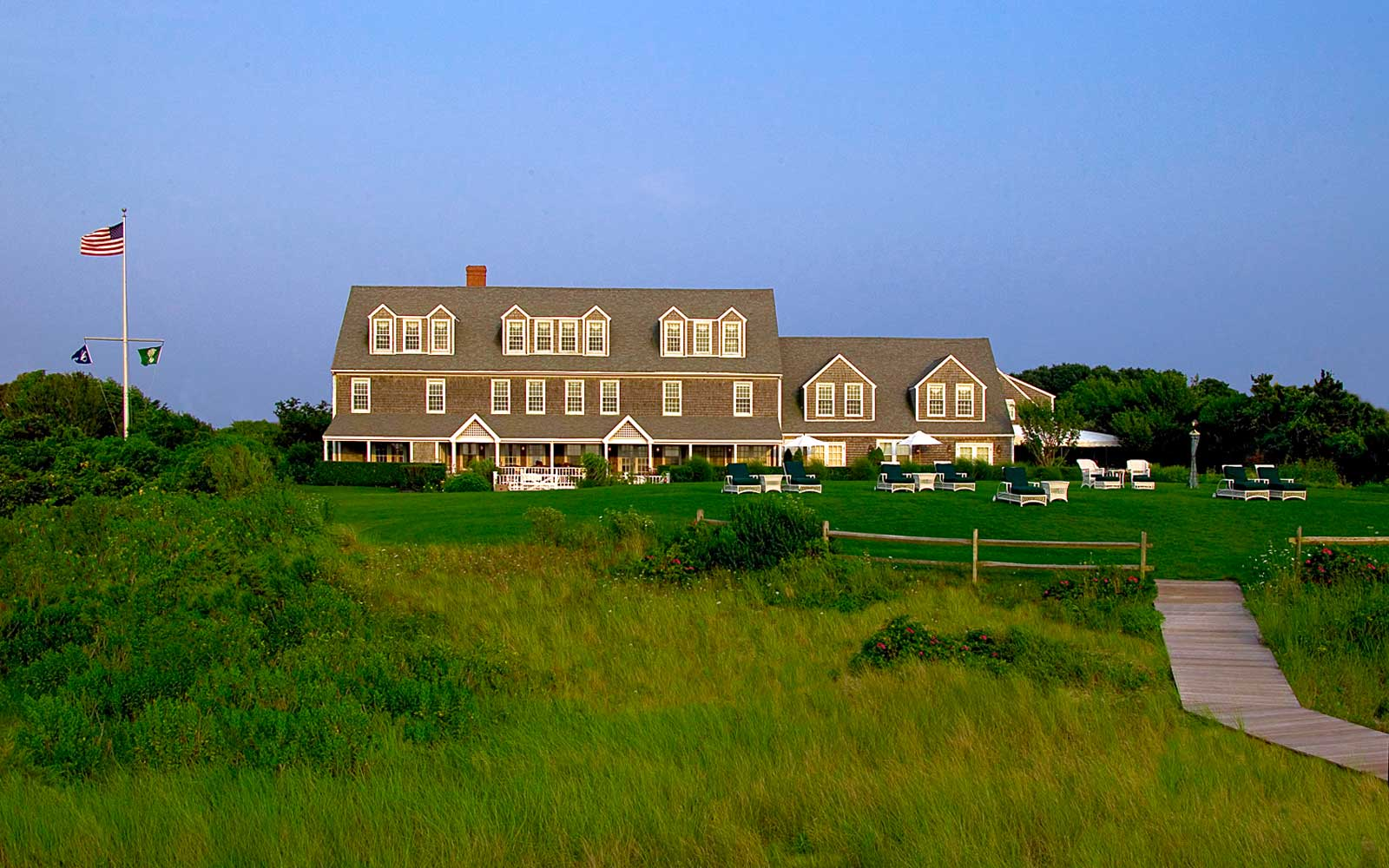Exterior of Wauwinet Inn, Nantucket