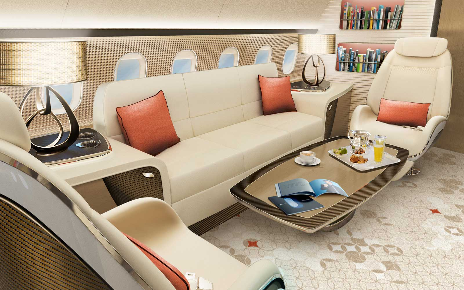 Custom 737 Airplane Interiors - Luxury