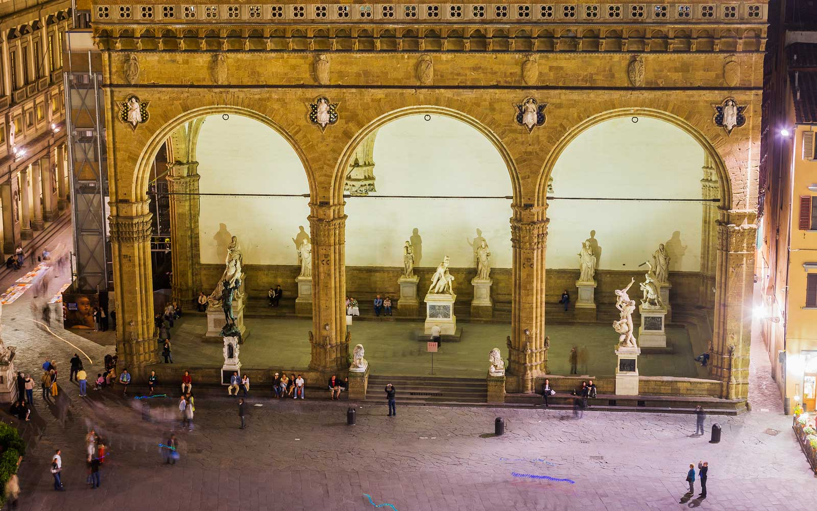 View of Loggia dei Lanzi in Florence