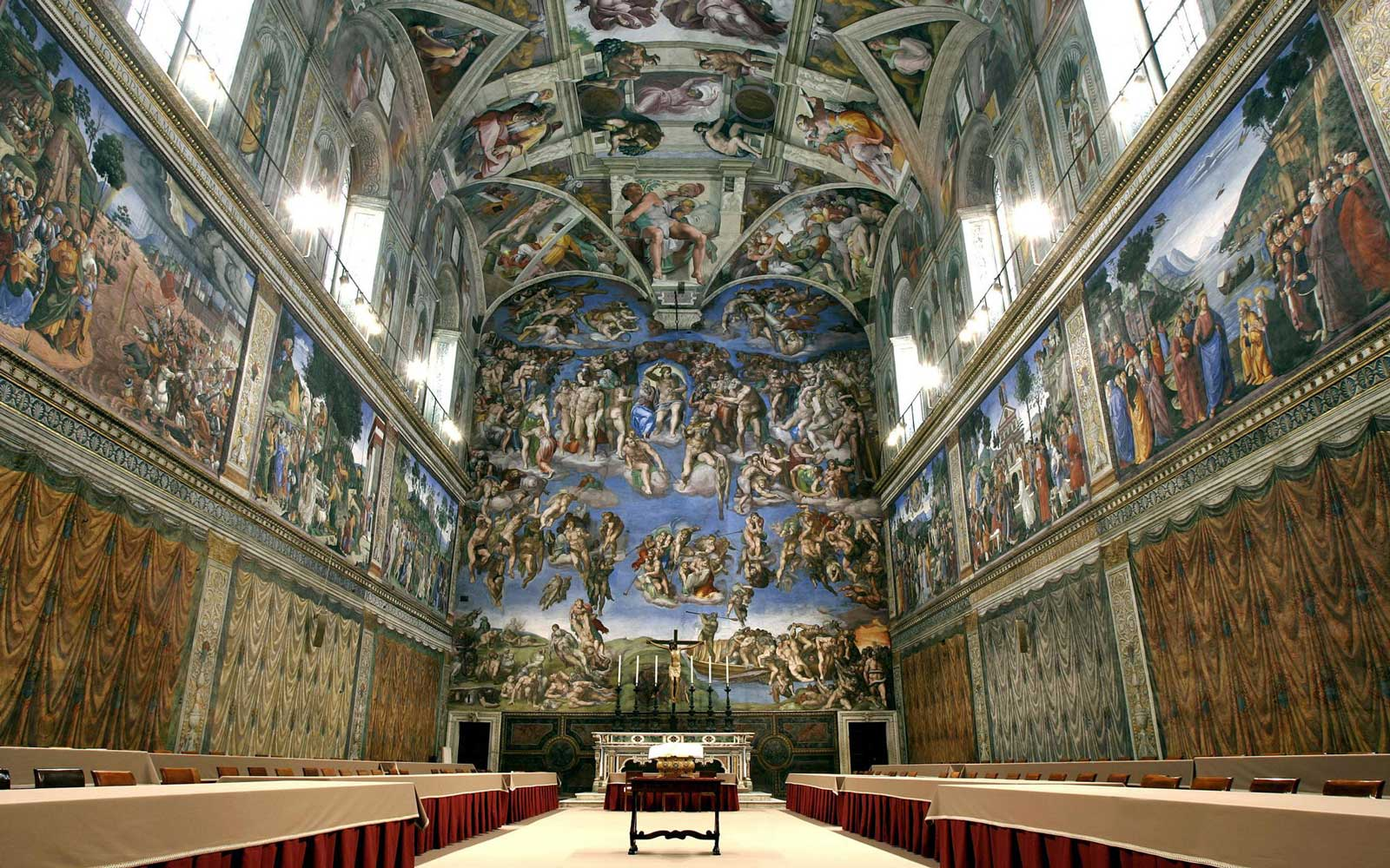 Sistine Chapel with Michelangelo's fresco