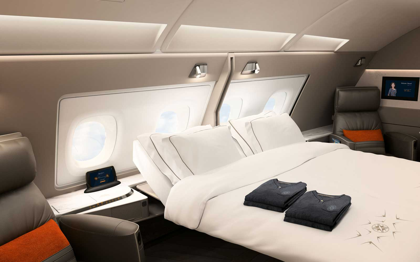Singapore Airlines A380 double suite
