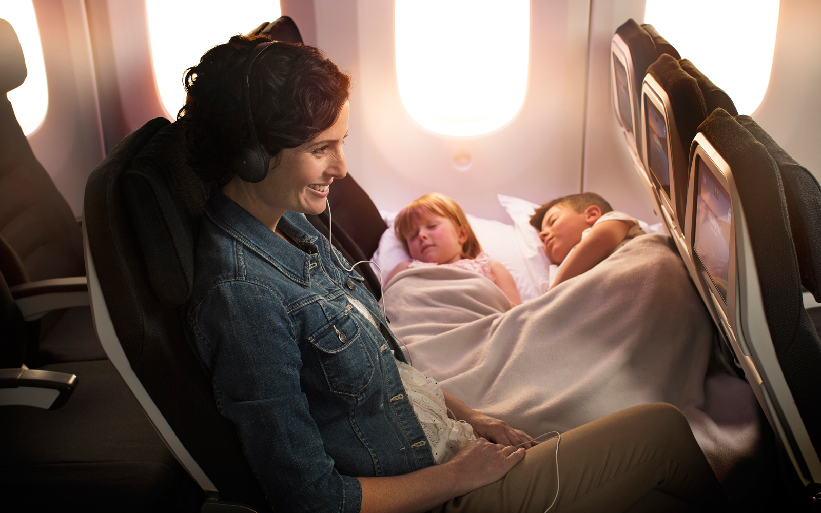 Air New Zealand Skycouch with Kids Belts