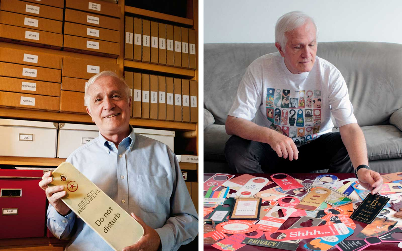 How One Man Amassed a Collection of 15,000 Do Not Disturb Signs
