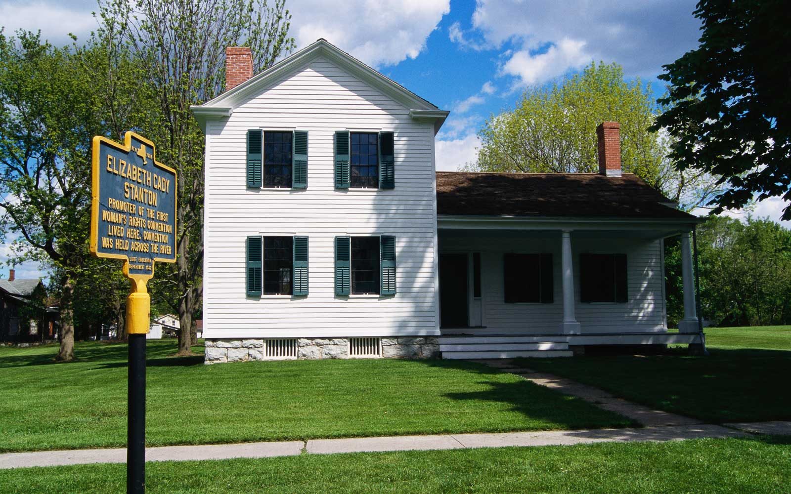 Home of Elizabeth Cady Stanton, on Washington Avenue, at Women's Rights National Historic Park in Seneca Falls, New York.