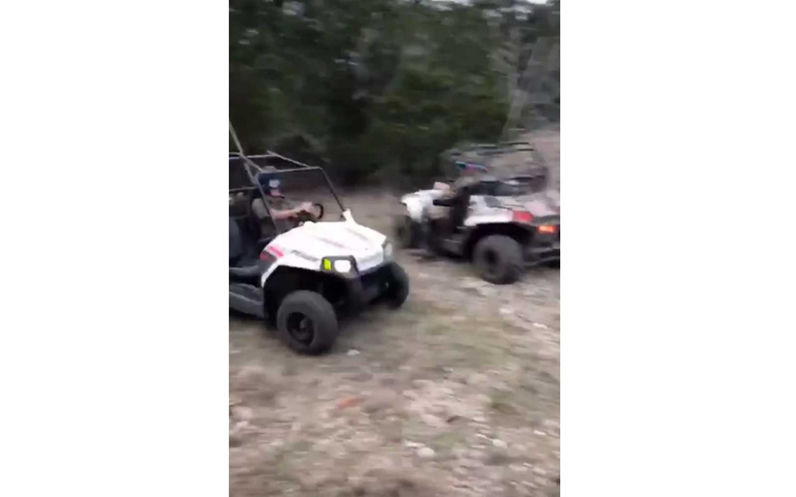 Gwen Stefani's kids riding ATVs