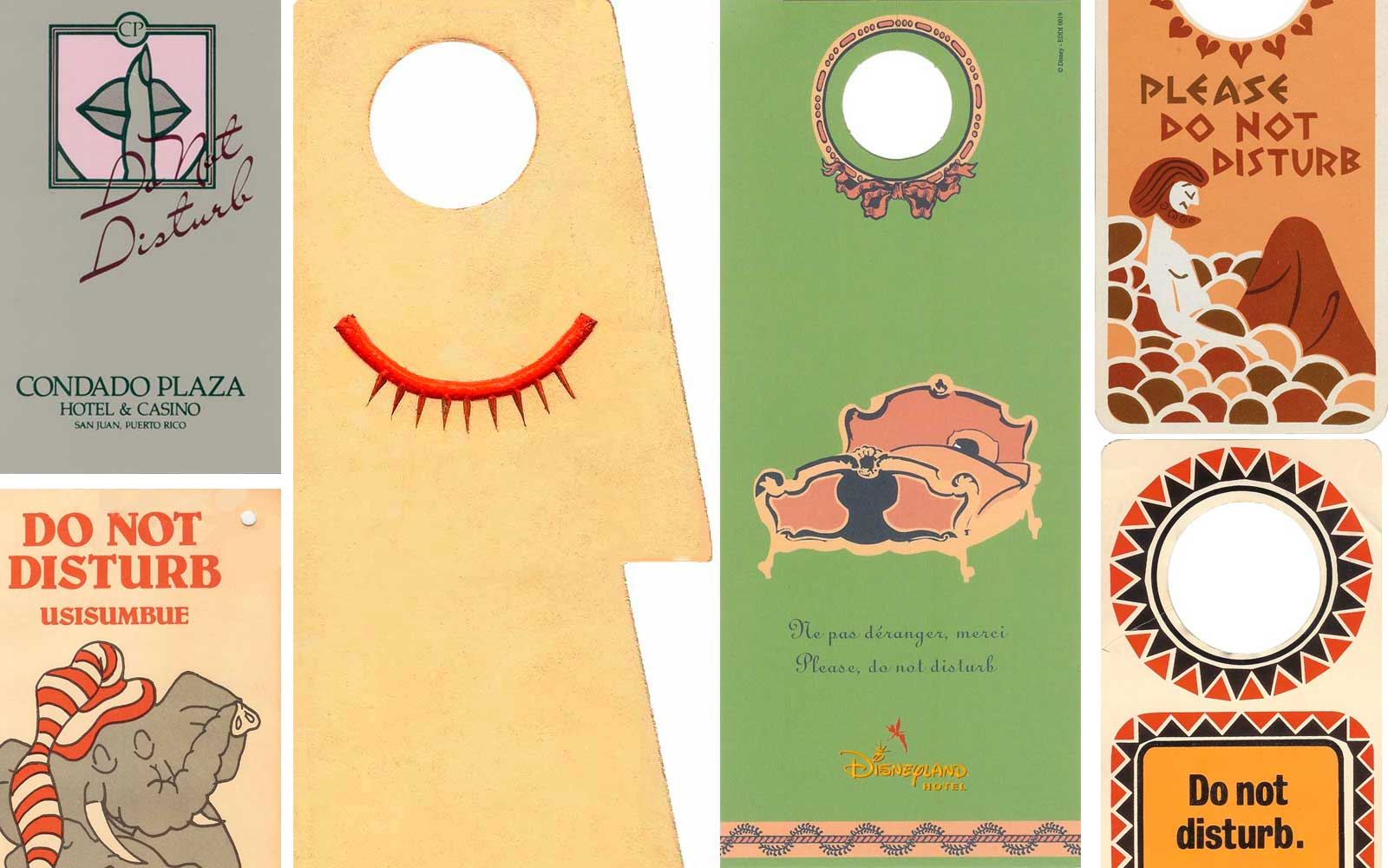Hotel Do Not Disturb Sign Collection by Edoardo Flores