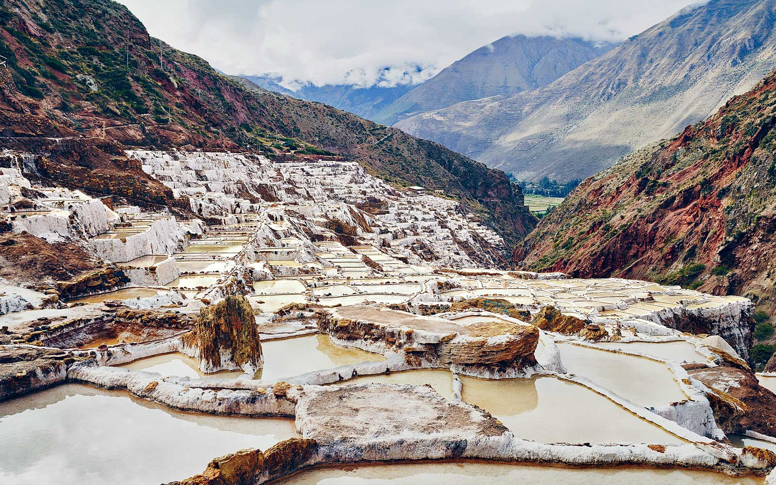 Maras salt works in Peru