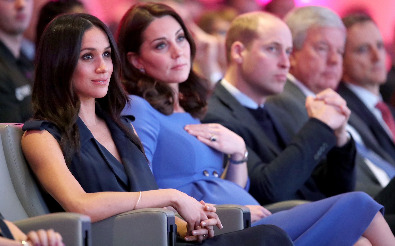 Meghan Markle, Kate Middleton, and Prince William