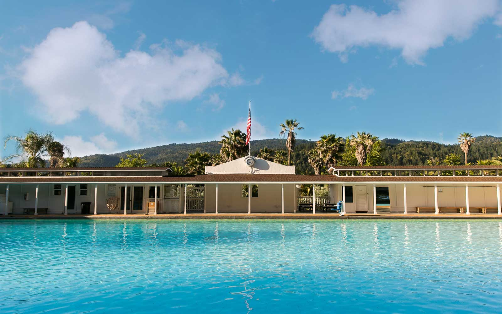 This 100-degree Mineral Pool in Calistoga Is the Perfect Spot for a Late-night Swim Under the Stars