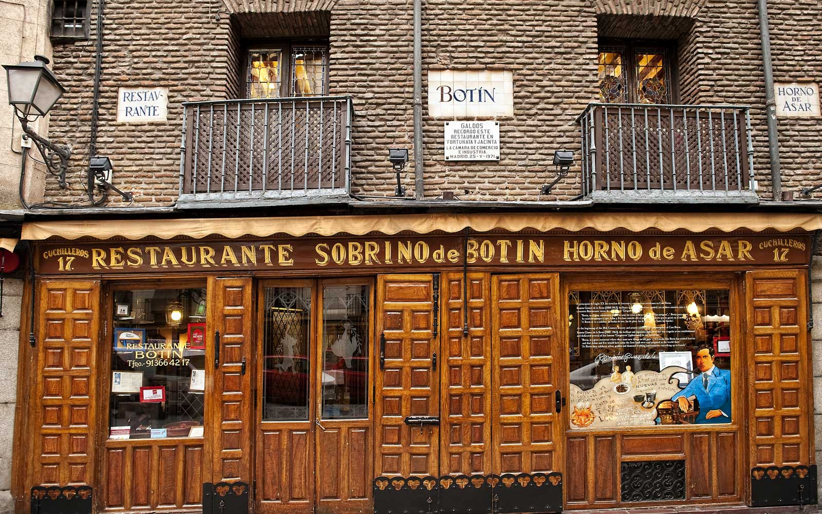 Botin Restaurant, Madrid, Spain.