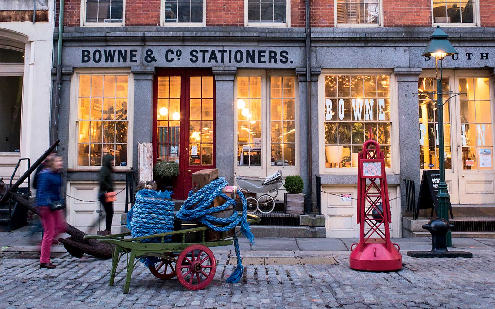 New York City's once-snoozy South Street Seaport Neighborhood Is Springing Back to Life