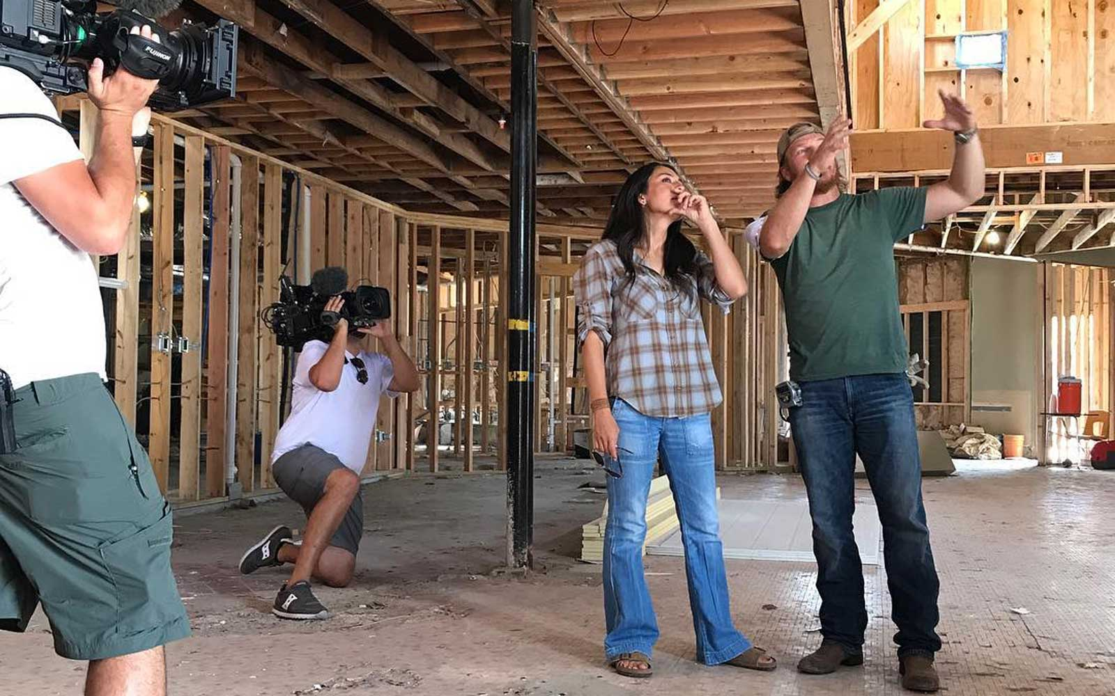 Chip and Joanna Gaines filming 'Fixer Upper'