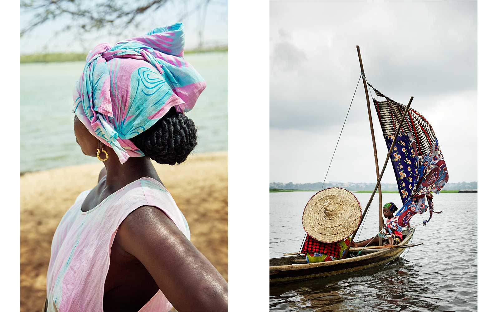 Left: Washing Day, Senegal 2011. Right: Tofinu Girls, Benin 2014. From Circadian Landcape by Jessica Antola