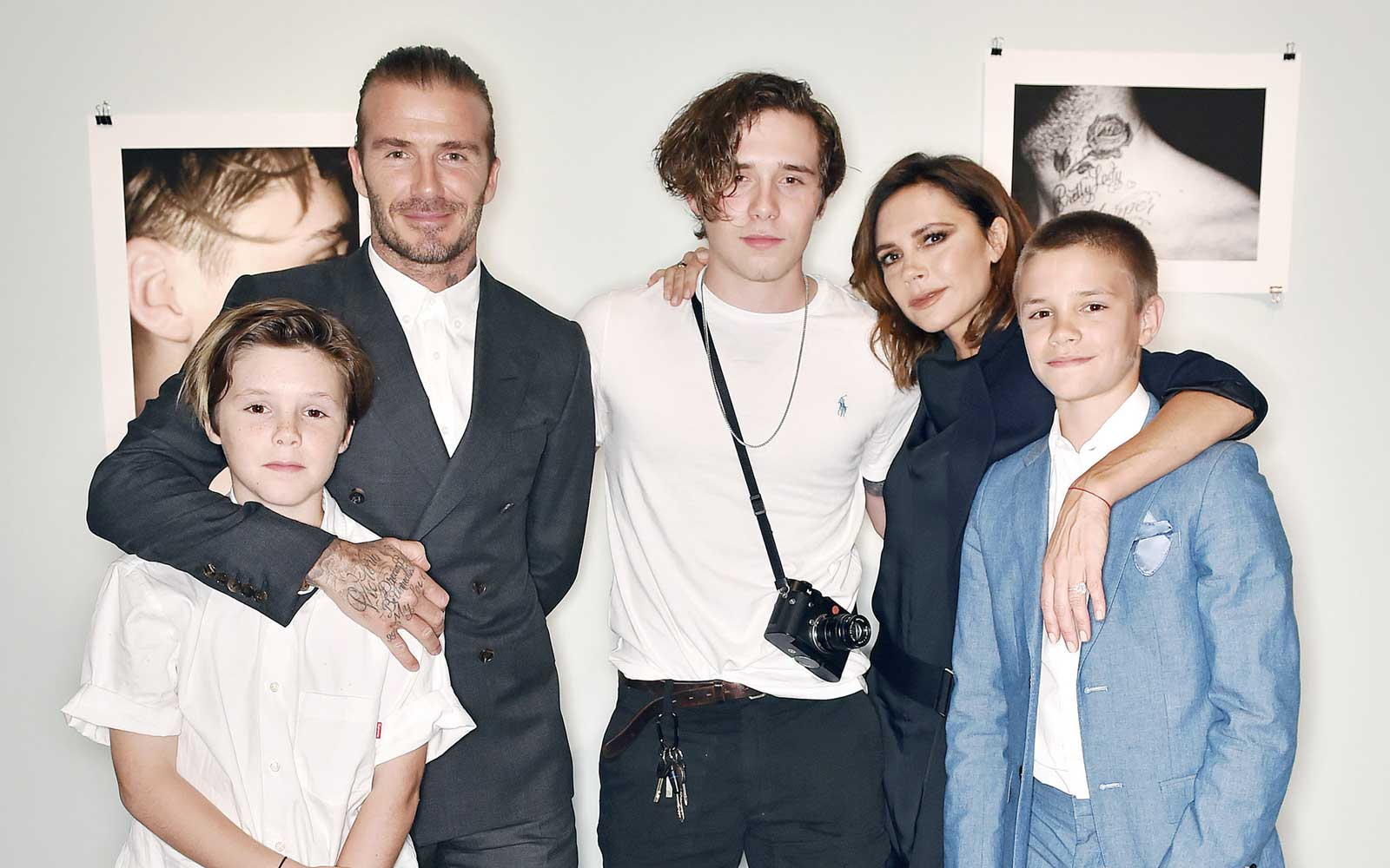 David Beckham and Family in London