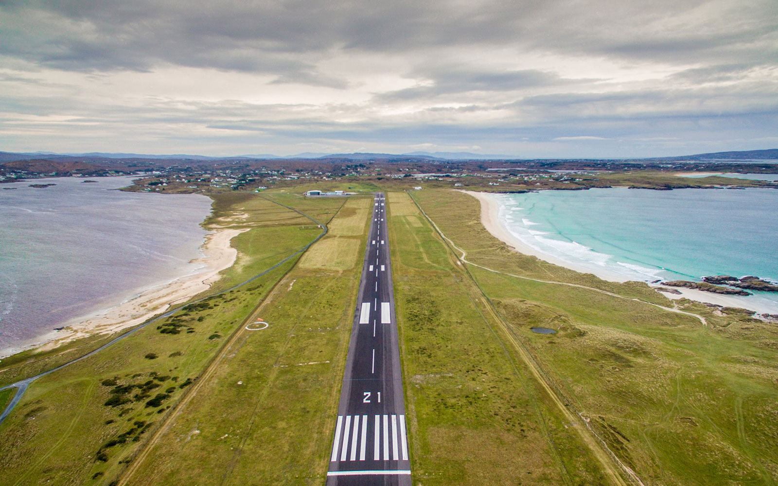 donegal airport runway beach